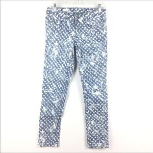 Gap Always Skinny Splatter Print Ankle Jeans 26
